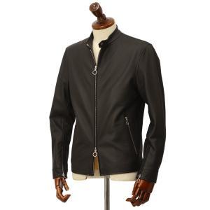 SERAPHIN【セラファン】 シングルライダースジャケット BIKER ANDY 129 00 CERF NOIR ディアスキン ブラック|cinqueclassico