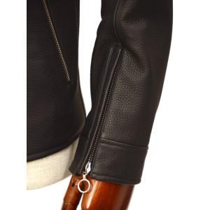 SERAPHIN【セラファン】 シングルライダースジャケット BIKER ANDY 129 00 CERF NOIR ディアスキン ブラック|cinqueclassico|05