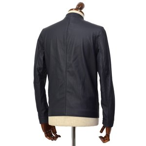 SERAPHIN【セラファン】 シングルライダースジャケット BIKER ANDY 129 00 CERF MARINE ディアスキン ネイビー cinqueclassico 02