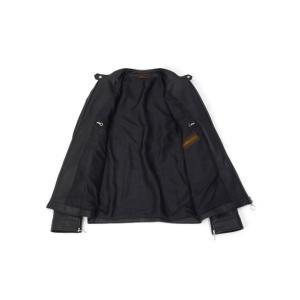 SERAPHIN【セラファン】 シングルライダースジャケット BIKER ANDY 129 00 CERF MARINE ディアスキン ネイビー cinqueclassico 03