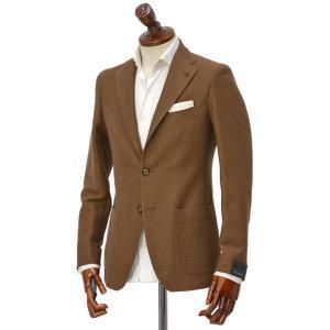 TAGLIATORE【タリアトーレ】シングルジャケット G-DAKAR 77UEG141 K1231 ダカール コットン リネン ブラウン|cinqueclassico