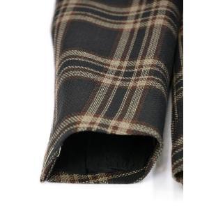 TAGLIATORE【タリアトーレ】シングルジャケット 1SMC23K 12QEG300 N3421 MONTECARLO モンテカルロ リネン ウール チェック ネイビー×ベージュ cinqueclassico 07