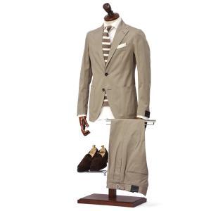 TAGLIATORE【タリアトーレ】シングルスーツ G-DAKAR P-BRENT 79UEZ133 T1065 コットン ストレッチ ベージュ|cinqueclassico