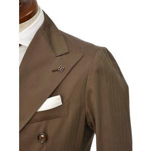 TAGLIATORE【タリアトーレ】ダブルスーツ G-DARREL P-BRENT 24UEZ084 M3086 コットン ソラーロ ブラウン|cinqueclassico|04