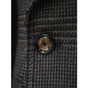 TAGLIATORE【タリアトーレ】ポロコート CSBLM0B 50QIC016 M1018 グレンチェック ヴァージンウール ブラウン×ブラック cinqueclassico 05