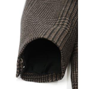 TAGLIATORE【タリアトーレ】ポロコート CSBLM0B 50QIC016 M1018 グレンチェック ヴァージンウール ブラウン×ブラック cinqueclassico 07