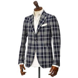15周年ノベルティー付き TAGLIATORE【タリアトーレ】シングルジャケット G-DAKAR22K 77WEG157 B3052 コットン ネイビー×ホワイト|cinqueclassico