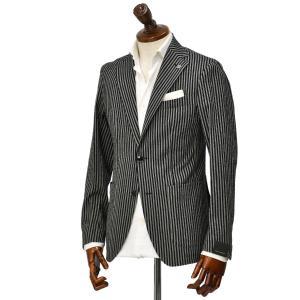 15周年ノベルティー付き TAGLIATORE【タリアトーレ】シングルジャケット G-DAKAR22K 23UEZ073 N3355 コットン ブラック×グレー|cinqueclassico