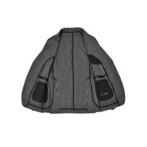 先行販売 早得 【袖修理無料】15周年ノベルティー付き TAGLIATORE【タリアトーレ】シングルジャケット G-DAKAR22K 23UEZ073 N3355 コットン ブラック×グレー cinqueclassico 03