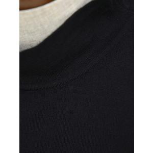 ZANONE【ザノーネ】モックネックハイゲージニット 811965 Z0290 Z3017 フレックスウール ブラック|cinqueclassico|04