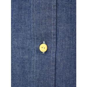 Bagutta【バグッタ】バンドカラーロングシャツ GABRI 06197 051 コットン デニム ウォッシュドブルー|cinqueunaltro|04