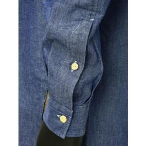 Bagutta【バグッタ】バンドカラーロングシャツ GABRI 06197 051 コットン デニム ウォッシュドブルー|cinqueunaltro|05