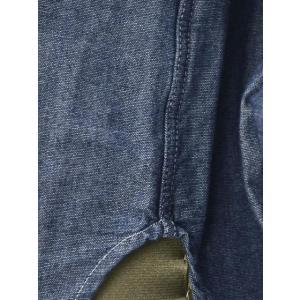 Bagutta【バグッタ】バンドカラーロングシャツ GABRI 06197 051 コットン デニム ウォッシュドブルー|cinqueunaltro|06
