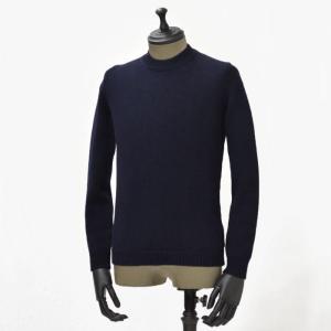 roberto collina【ロベルトコリーナ】クルーネックニット RM02001 10 wool NAVY(ウール ネイビー)|cinqueunaltro