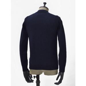 roberto collina【ロベルトコリーナ】クルーネックニット RM02001 10 wool NAVY(ウール ネイビー)|cinqueunaltro|02