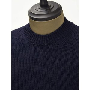 roberto collina【ロベルトコリーナ】クルーネックニット RM02001 10 wool NAVY(ウール ネイビー)|cinqueunaltro|03