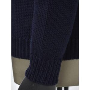 roberto collina【ロベルトコリーナ】クルーネックニット RM02001 10 wool NAVY(ウール ネイビー)|cinqueunaltro|05
