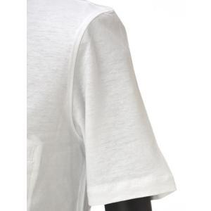 roberto collina【ロベルトコリーナ】半袖ヘンリーネックカットソー RN90043 01 cotton BIANCO(コットン ホワイト)|cinqueunaltro|04