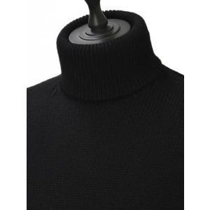 roberto collina【ロベルトコリーナ】タートルネックニット  RN20003 09 wool BLACK(ウール ブラック)|cinqueunaltro|03