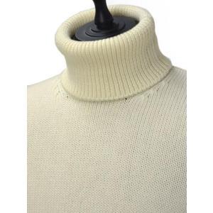 roberto collina【ロベルトコリーナ】タートルネックニット  RN20003 02 wool ECRU(ウール エクリュホワイト)|cinqueunaltro|03