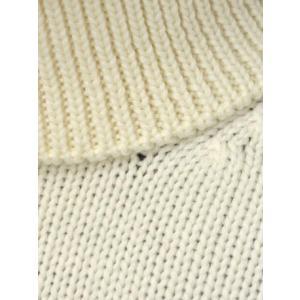 roberto collina【ロベルトコリーナ】タートルネックニット  RN20003 02 wool ECRU(ウール エクリュホワイト)|cinqueunaltro|04