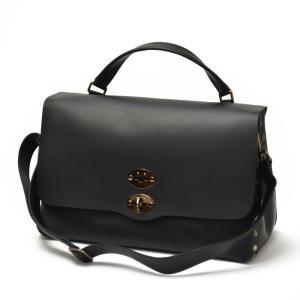 【送料無料】ZANELLATO【ザネラート】ワンハンドルバッグ POSTINA L 34152-16 original silk leather NERO(オリジナル シルク レザー ブラック) cinqueunaltro