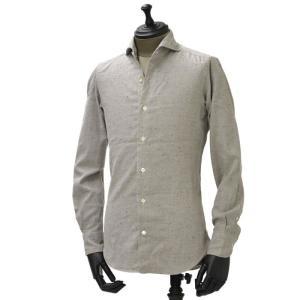 Giannetto【ジャンネット】カジュアルシャツ SLIM FIT 1G 4933 L84 cotton nep GREY(コットン ネップ グレー)|cinqueunaltro