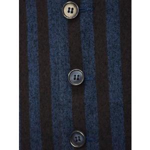 【送料無料】Giannetto【ジャンネット】シングルベスト/ジレ 5G498GL 004 cotton stripe BLUE BROWN(コットン ストライプ ブルー ブラウン) cinqueunaltro 04