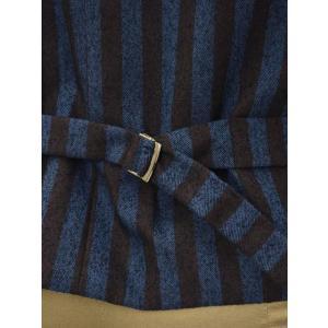 【送料無料】Giannetto【ジャンネット】シングルベスト/ジレ 5G498GL 004 cotton stripe BLUE BROWN(コットン ストライプ ブルー ブラウン) cinqueunaltro 05