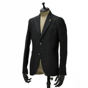 Giannetto【ジャンネット】シャツジャケット 6G836JK 006 リネン ブラック|cinqueunaltro