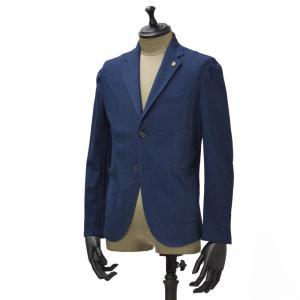 Giannetto【ジャンネット】シャツジャケット 6G189JK 001 ジャージ コットン インディゴ|cinqueunaltro