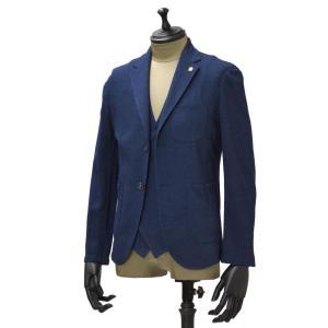 Giannetto【ジャンネット】シャツジャケット 6G189JK 001 ジャージ コットン インディゴ|cinqueunaltro|02