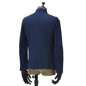 Giannetto【ジャンネット】シャツジャケット 6G189JK 001 ジャージ コットン インディゴ|cinqueunaltro|03
