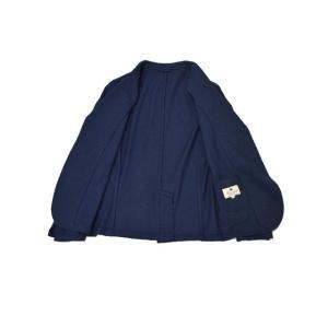 Giannetto【ジャンネット】シャツジャケット 6G189JK 001 ジャージ コットン インディゴ|cinqueunaltro|04