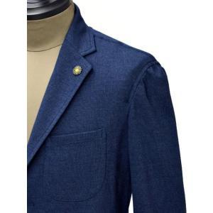 Giannetto【ジャンネット】シャツジャケット 6G189JK 001 ジャージ コットン インディゴ|cinqueunaltro|05