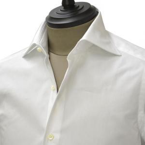 Giannetto【ジャンネット】ドレスシャツ SLIM FIT 6B10330L66 001 blue label コットン ポプリン ホワイト cinqueunaltro