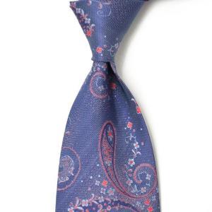 DOLCEPUNTA【ドルチェプンタ】  シルクタイ P1659 2 silk paisley BLUE GREY(シルク ペイズリー ブルー グレー)|cinqueunaltro
