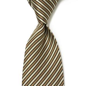 DOLCEPUNTA【ドルチェプンタ】  シルクタイ A1632 2 silk regimantal BEIGE ECRU (シルク レジメンタル ベージュ/エクリュ)|cinqueunaltro