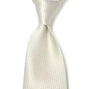 DOLCEPUNTA【ドルチェプンタ】  シルクタイ M24 4 silk pin dot WHITE (シルク ピンドット ホワイト)|cinqueunaltro