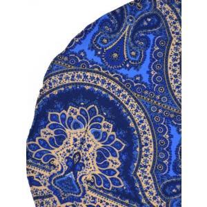 DOLCEPUNTA【ドルチェプンタ】ポケットチーフ FAZZOLETTO P1704 6 シルク ペイスリー ブルー ベージュ cinqueunaltro 02