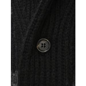 【送料無料】Gabriele Pasini【ガブリエレ パジーニ】【秋冬】ショールカーディガン JG5SHAWL2 G5302 290  wool border(ウール ボーダー グレー ブラック)|cinqueunaltro|04