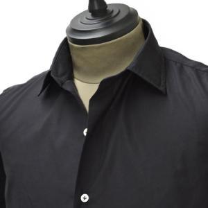 Gabriele Pasini【ガブリエレ パジーニ】シャツ JG6CM1 G6200 449  cotton poplin BLACK( コットン ポプリン ブラック)|cinqueunaltro