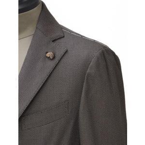 Gabriele Pasini【ガブリエレ パジーニ】シングルジャケット JG80030Q GP8422 291 コットン バーズアイ ブラウン cinqueunaltro 05