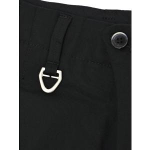 SOLIDO【ソリード】1 タックコットンパンツ ASSENZIO cotton strech BLACK (コットン ストレッチ ブラック)|cinqueunaltro|05