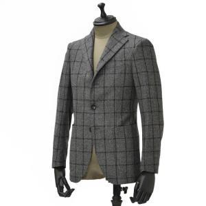 THE GIGI【ザ ジジ】シングルジャケット DEGAS E051 810  ウール ウィンドペーン グレー|cinqueunaltro