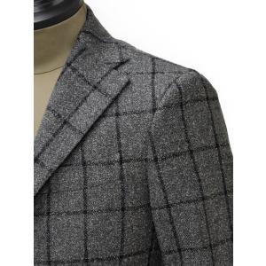 THE GIGI【ザ ジジ】シングルジャケット DEGAS E051 810  ウール ウィンドペーン グレー|cinqueunaltro|04