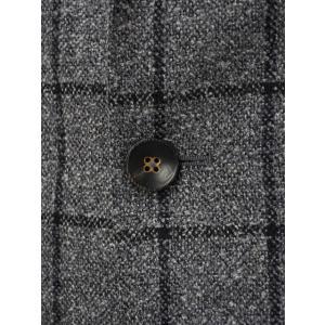THE GIGI【ザ ジジ】シングルジャケット DEGAS E051 810  ウール ウィンドペーン グレー|cinqueunaltro|05