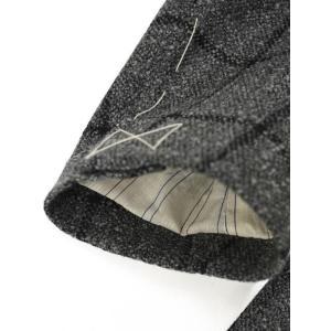 THE GIGI【ザ ジジ】シングルジャケット DEGAS E051 810  ウール ウィンドペーン グレー|cinqueunaltro|06