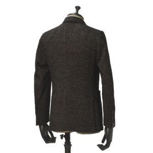 THE GIGI【ザ ジジ】シングルジャケット DEGAS E080 950 ウール コットン シェブロン べージュ ブラック|cinqueunaltro|02