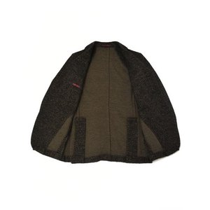 THE GIGI【ザ ジジ】シングルジャケット DEGAS E080 950 ウール コットン シェブロン べージュ ブラック|cinqueunaltro|03